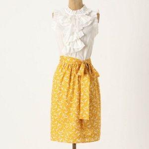 Girls from Savory | Yellow White Bird Print Dress